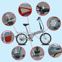 folding electric bike in china with 36V 10AH lithium polymer battery and 1:1 pedal assistant
