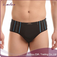 Wholesale custom men's printing sexy seamless bamboo fiber boxer brief