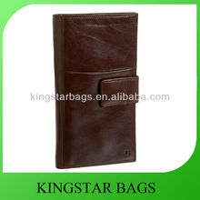 Simple design mens wallet leather