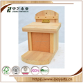 Latest natural color small wooden crafts bird house