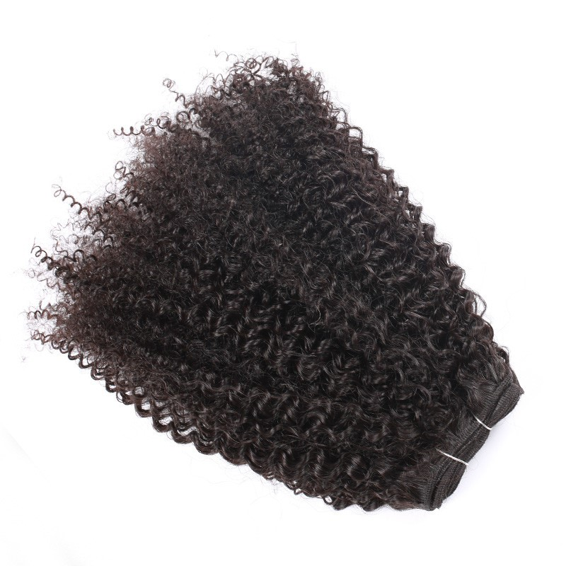 2016 Popular Indian Virgin Human Hair Weft Afro Kinky Curly Bundles Hair