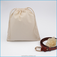 Wholesale plain natural cotton drawstring shoe dust bag on sale