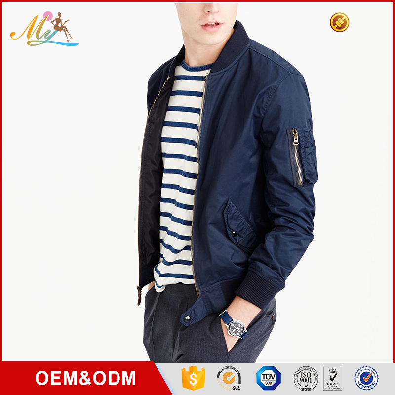 Custom brand quality cheap men casual motorcycle bomber jacket