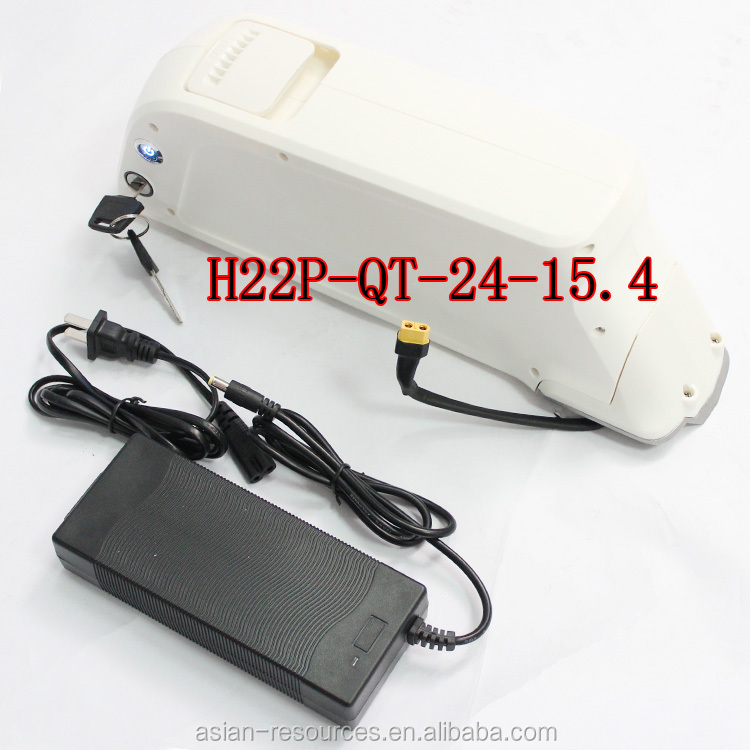 HalloMotor 10A 3C Powerful Cell Li-ion Battery H22P-QT 3.7V 2.2AH Plastic Case 24V 15.4Ah Ebike Lithium Battery