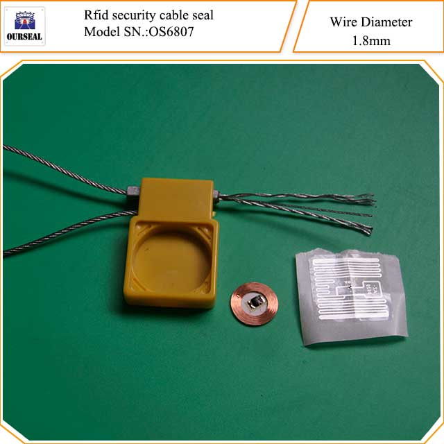 OS6807,Rfid security cable seals with wire 1.8mm diameter