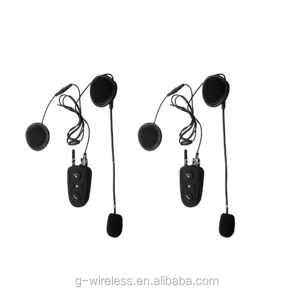 Motorcycle Motorbike Helmet interphone Bluetooth Handsfree Headset FM Radio 100m intercom