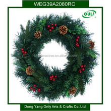 "18"" Luxury Christmas Party Pine Wreath Door Wall Decoration"