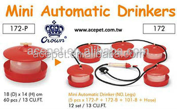 172A-P Mini Automatic Drinker large base For chicken and chicks, chicken farm, chicken waterer feeder, chicken drinker