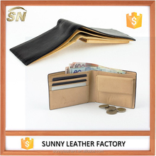 Soft thin leather simple design men's genuine leather wallet