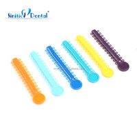 Sinitic Dental factory medical material tooth orthodontic rubber bands with brackets
