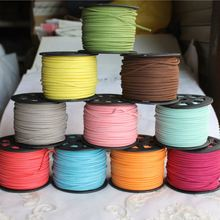 Wholesale 3mm Faux Suede Cord Leather Lace colorful faux leather cord For DIY Necklace Bracelet
