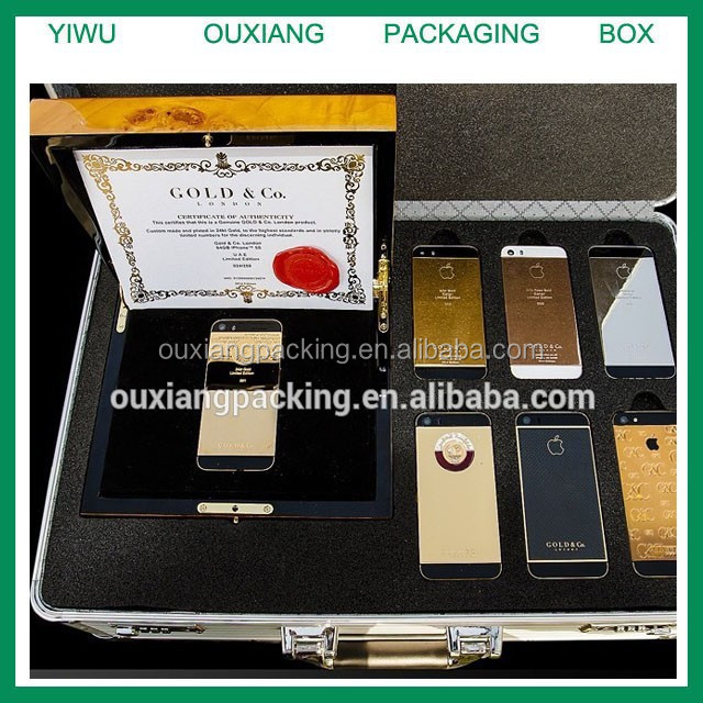 luxury piano burl wood finish gold limited iphone 5s box