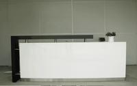 Certificated office furniture supplier white reception desk