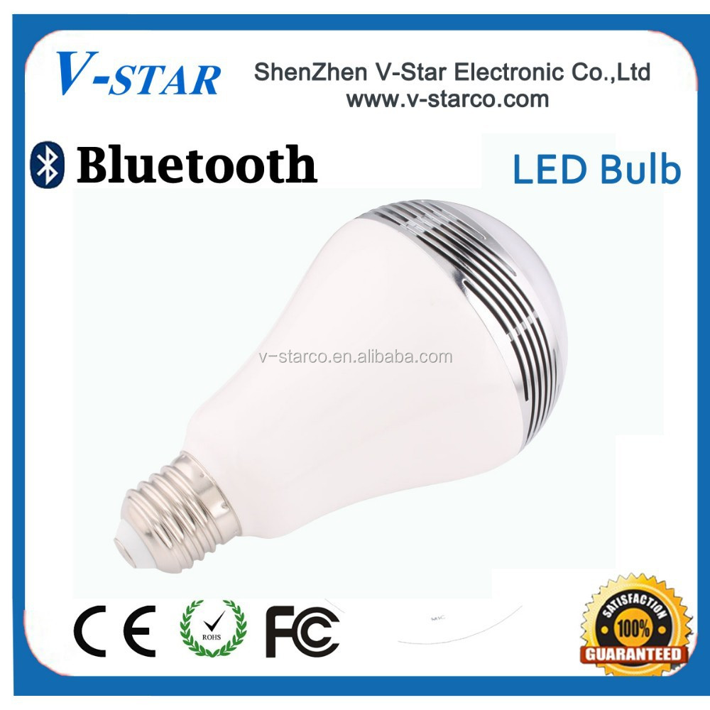 Smart Bluetooth LED bulb, controlled by mobile phone, supports IOS and Android systems. Can listen the audio books