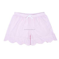 Wholesale Lady Seersucker Scalloped Shorts