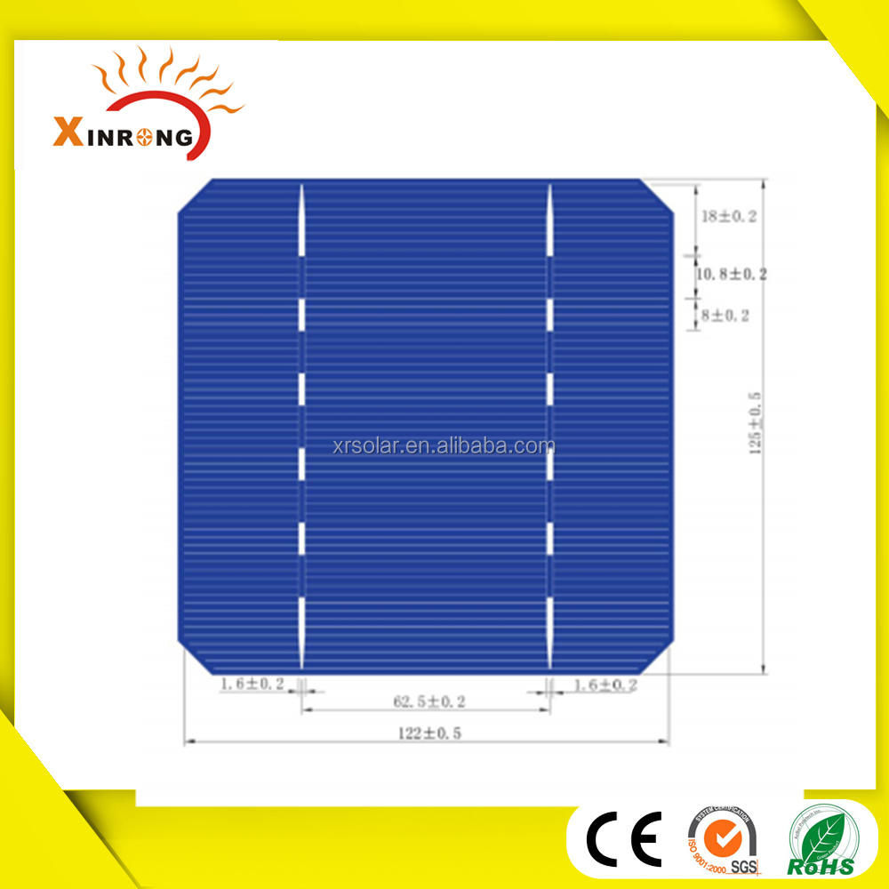 high efficiency cheap price 125*125 Monocrystalline Solar Cell