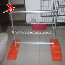 Mobile barrier galvanized temporary fence base