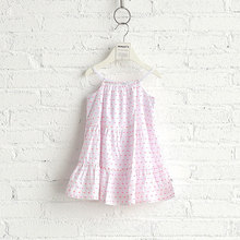 2017 New style design suspender skirt girls pink party dress kids
