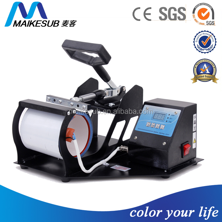 Maikesub mug printing machine, black mug press machine