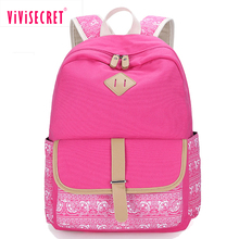 New cute girl pattern printing back pack traveling bolsa mochila feminina practical backpack unique fashion canvas book bag