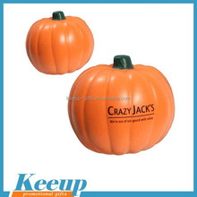Brand printed Pumpkin stress ball for promotional squeeze reliever balls