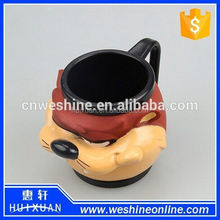 High Quality animal shaped Ceramic cup ,novelty ceramic cup ice cream