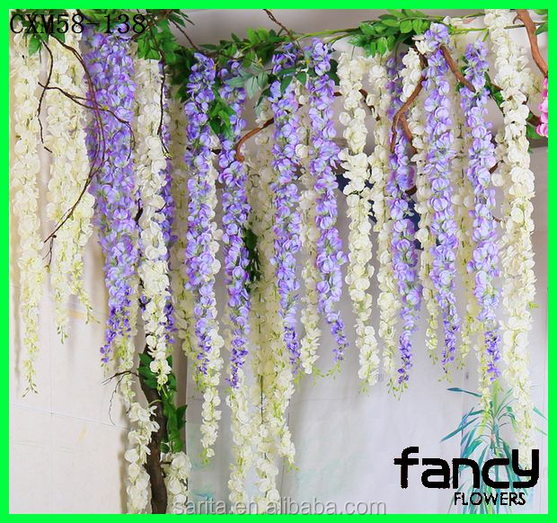Wedding & Home deocr,decorative flower vines,fake flowers wisteria for party decoration cheap fake flowers wisteria