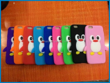 Penguin shape silicone mobile phone case for iPhone ,cell phone penguin silicone case,animal shaped phone cases for samsung