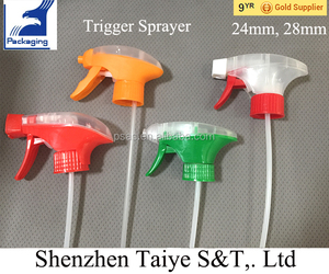 Different shape 28/410 foam type plastic trigger sprayer for bottle