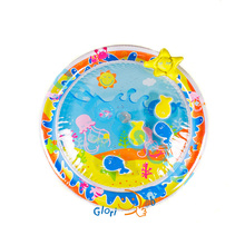 PVC Infantile Water Play Mat Non-Toxic Comfortable Mat with Fish Inside