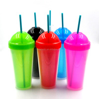 Double wall plastic unique cup,water cups with lid and straw,wholesale acrylic tumblers