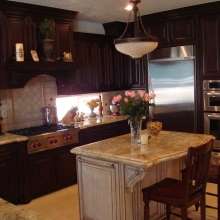 Customized Kitchen Hood Cabinets
