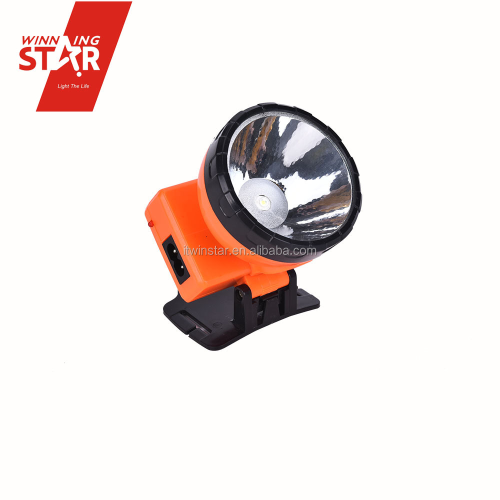 1W high bright led light rechargeable solar head lamp with 700mA rechargeable battery