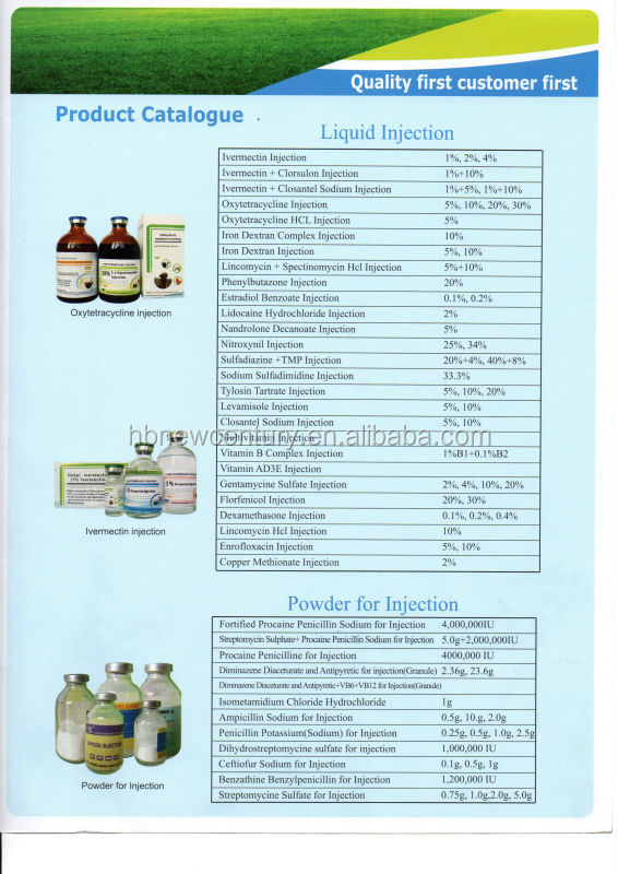 phamaceutical animal drugs veterinary injectable antibiotic