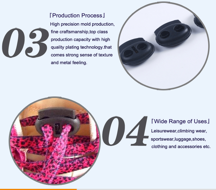 Cord Lock Plastic Rope Stopper for Jacket and Sportswear KS30020