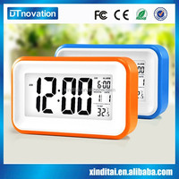 Low light glowing led color change digital loud alarm clock