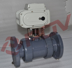 low price acid plastic 1inch UPVC Eelectric ball valve ac 220v