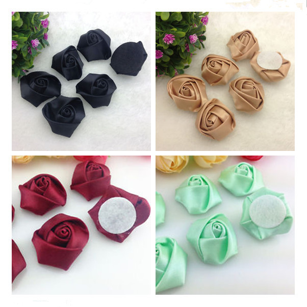 Guangzhou Mafolen Factory handmade silk satin ribbon flowers wholesale
