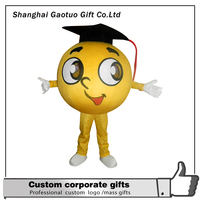 promotional customized doctor hat mascot advertising ball custume for adult wearing