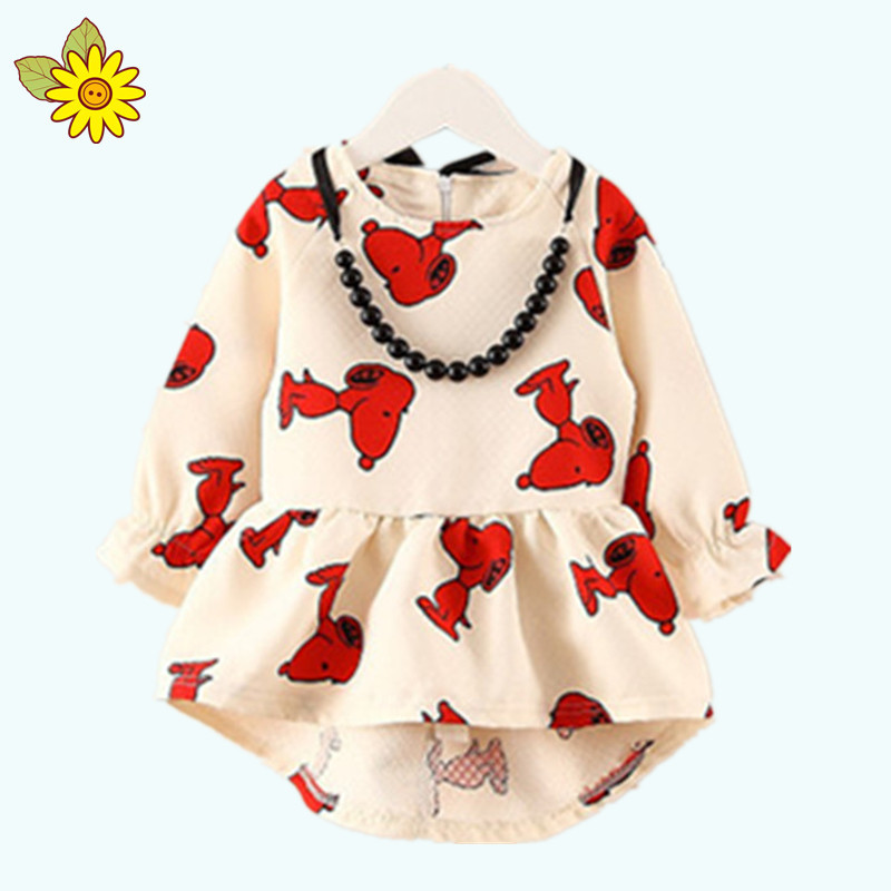 New 2015 Spring and Autumn Girls T-shirts Children Long-sleeved T-shirt Girls Clothing Set
