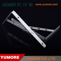 Metal support TV table&cabinet folding mounting stainless steel glass wall shelves