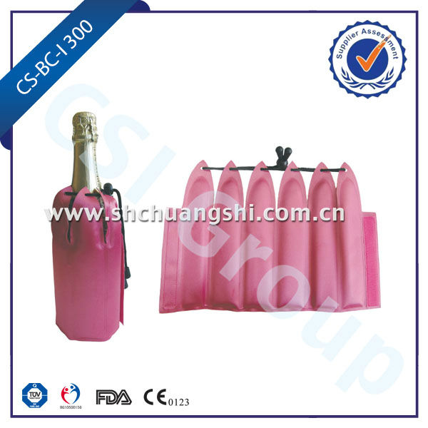 300g Pink Portable Ice Bottle Wine/Champagne Cooler Sleeve