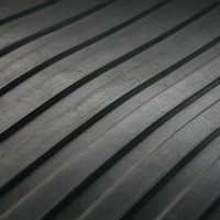 3mm Wide Ribbed Rubber Flooring Balck