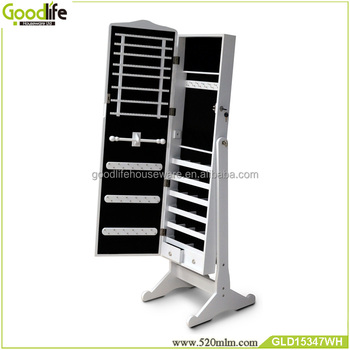 Goodlife bedroom dresser mirrored jewelry cabinet made in china