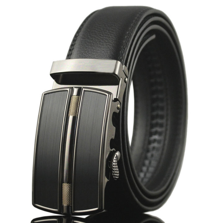 Fashion Strap Male Metal Automatic Buckle Belt for Men 100% Good Quality Genuine Luxury Leather Men's Belt