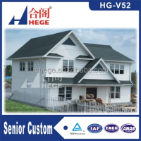 China modern European style villa prefab kit house modular villa/prefabricated homes