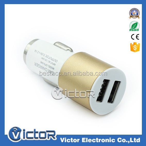 Very low price fast car charger 5 v 3.1 a dual port car charger for cell phones smartphones