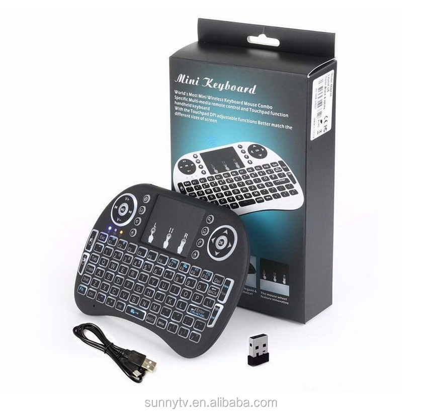 i8 PRO usb wireless keyboard backlit RGB 2.4G mini i8 keyboard 2.4g wireless OEM air mouse