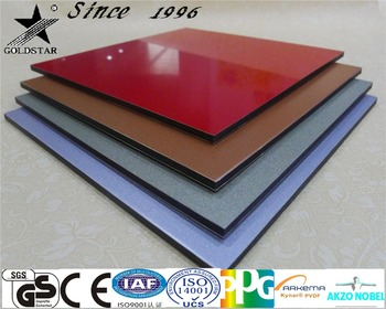 Foshan Curtain building material High gloss kitchen cabinet Aluminum composite panel
