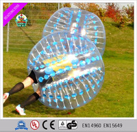 2016 New design fashion inflatable belly bumper ball/ body zorbing bubble ball for sale